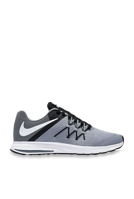 c5ae14f4ad76 Buy Nike Zoom Winflo 3 Wolf Grey Running Shoes for Men at Best Price   Tata  CLiQ