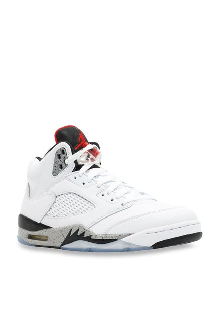 buy popular ea425 d7aa1 Buy Nike Air Jordan 5 Retro White Basketball Shoes for Men ...