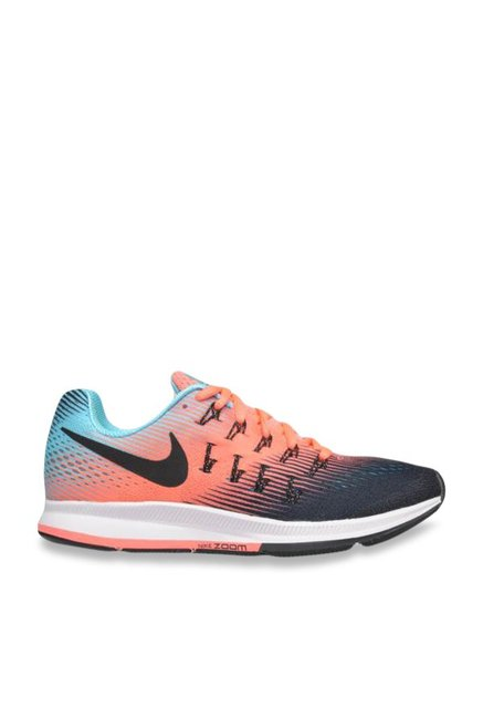 e414f7830419 Buy Nike Air Zoom Pegasus 33 Peach Running Shoes for Women at Best Price    Tata CLiQ