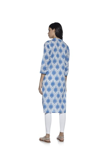 Utsa by Westside Blue Pure Cotton Kurta