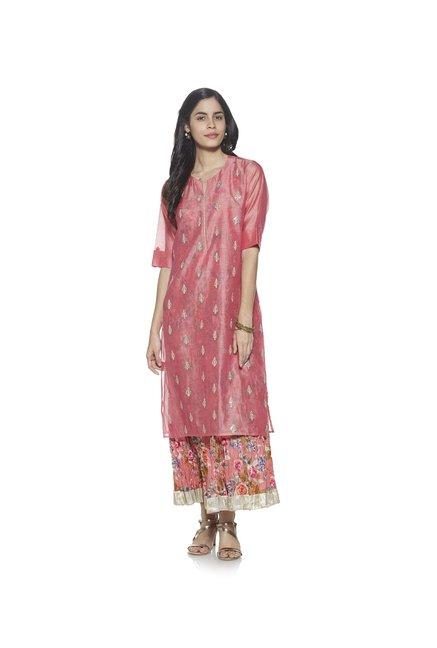 1f6f6f362 Buy Vark by Westside Pink Maxi Dress Ethnic Set for Women Online @ Tata CLiQ