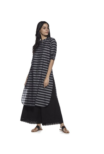 Utsa by Westside Black High-low Kurta