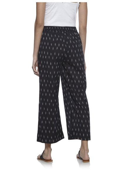 Utsa by Westside Black Pure Cotton Palazzos