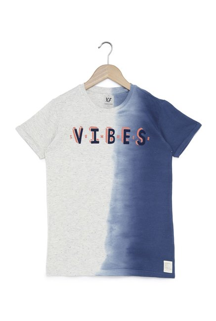 fe56e0825d8f Buy Y F by Westside Blue Ombre T-Shirt for Boys Clothing Online   Tata CLiQ