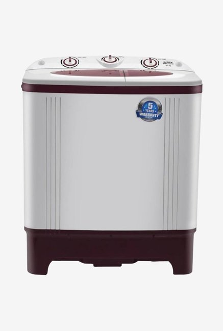 Intex WMSA62RD 6.2 kg Semi-Automatic Top Loading Washing Machine (White/Maroon)