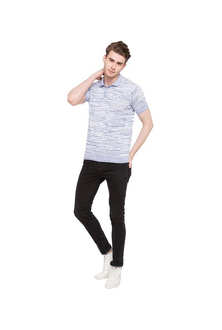 Globus Blue & White Polo T-Shirt