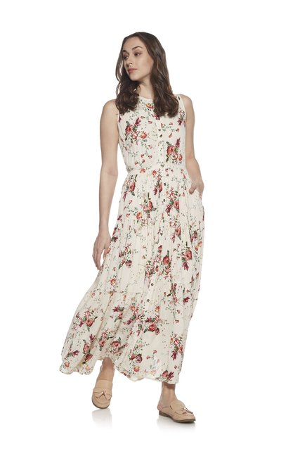 2a9ff262f2c Buy Lov by Westside Off White Maxine Dress With Chemise for Women Online    Tata CLiQ