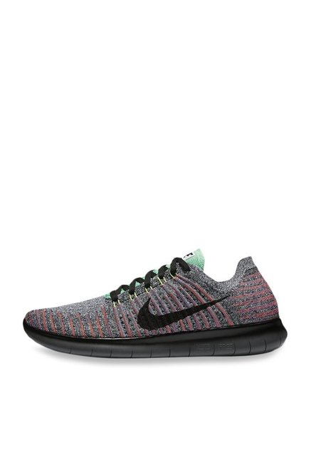d321e6f02bda9 Buy Nike Free RN Flyknit Grey   Mint Green Running Shoes for Men at ...