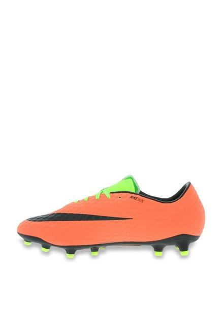 9f383fb52108 Buy Nike Hypervenom Phelon III FG Green   Orange Football Shoes for ...