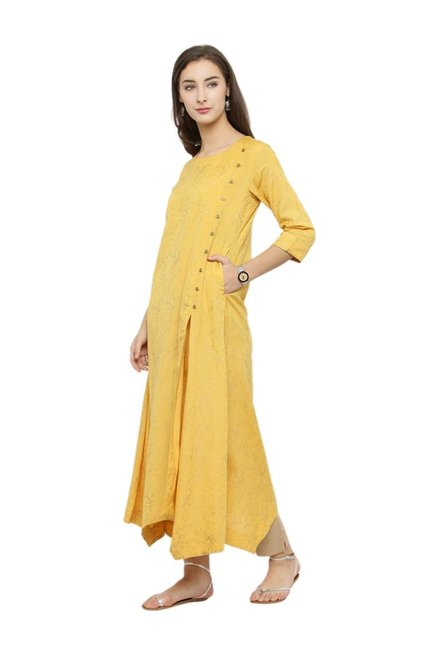 Varanga Yellow Printed Kurta