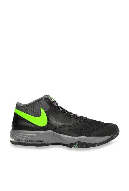 wholesale dealer 7bdd8 c01bb Buy Nike Air Max Emergent Black & Grey Basketball Shoes for Men at ...