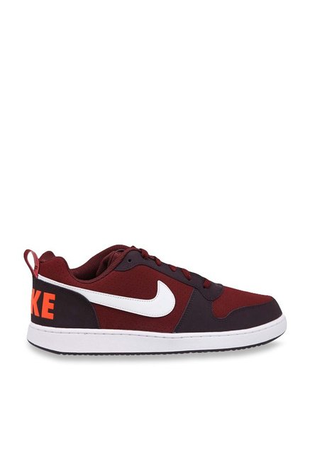 cad8fcc2c66fa Buy Nike Court Borough Low Dark Team Red & White Sneakers for Men at Best  Price @ Tata CLiQ