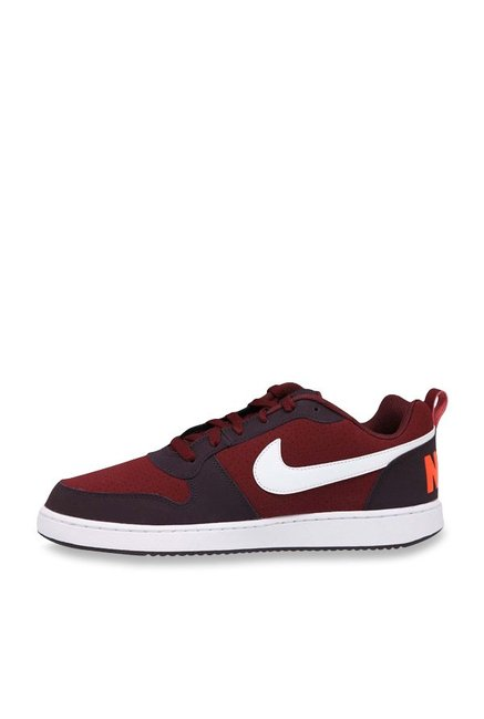 8d41bee95c19c Buy Nike Court Borough Low Dark Team Red & White Sneakers for Men at ...