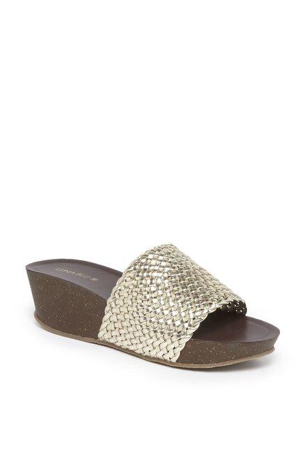 LUNA BLU by Westside Gold Weave Sandals