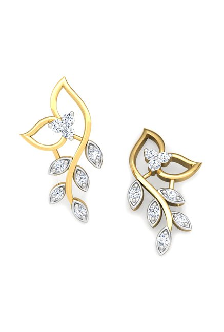 e65d62b0e Buy CaratLane Classic 18k Gold & 0.102 ct Diamond Earrings Online At ...