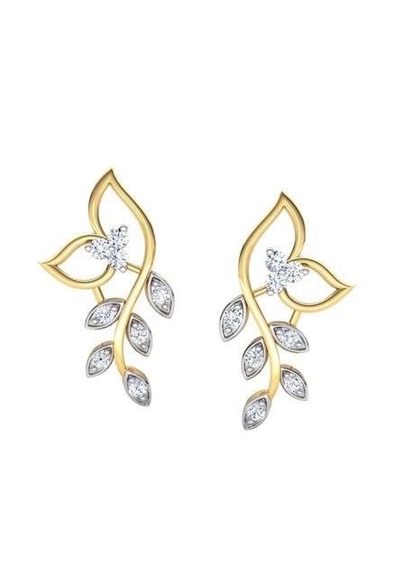 f9810cc2b Buy CaratLane Classic 18k Gold & 0.102 ct Diamond Earrings Online At Best  Price @ Tata CLiQ