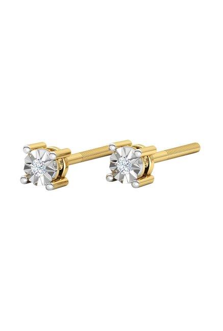 89318d651 Buy CaratLane Emily 18k Gold & 0.03 ct Diamond Earrings Online At ...