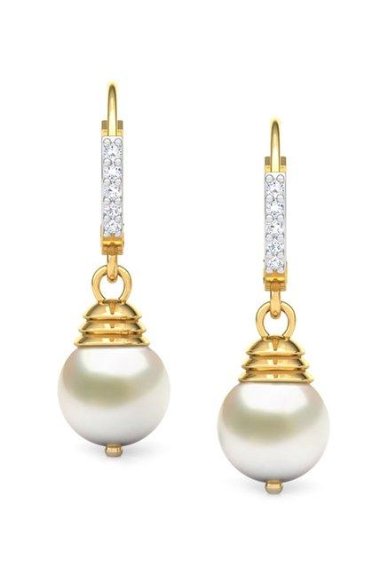 c6559706b Buy CaratLane 18k Gold & 0.1 ct Diamond Earrings Online At Best Price @ Tata  CLiQ
