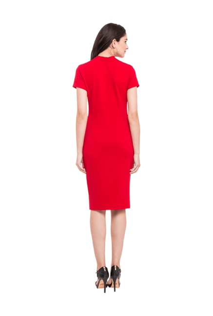 Globus Red Knee Length Dress