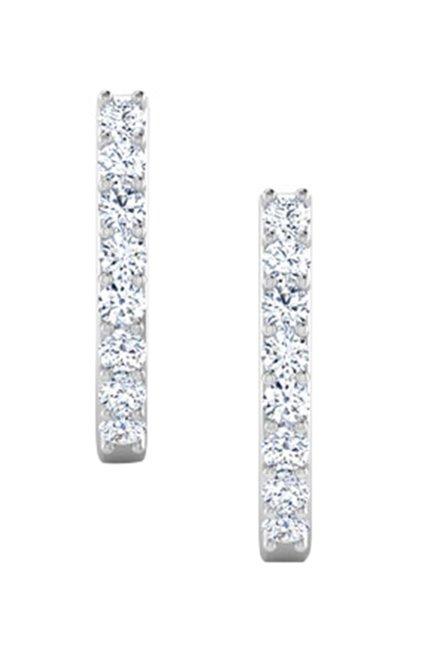 Caratlane Linear 18k Gold 0 08 Ct Diamond Earrings