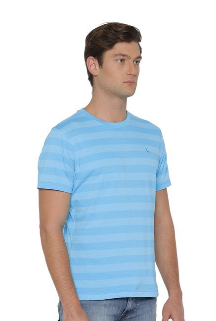 Parx Turquoise Half Sleeves T-Shirt