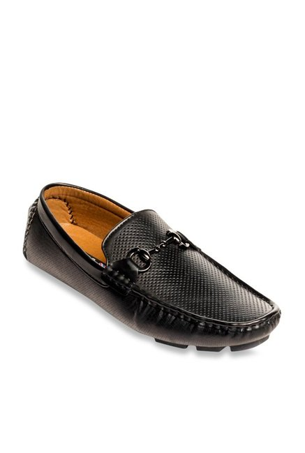 f6ac12a6584 Buy Pavers England Black Casual Loafers for Men at Best Price ...