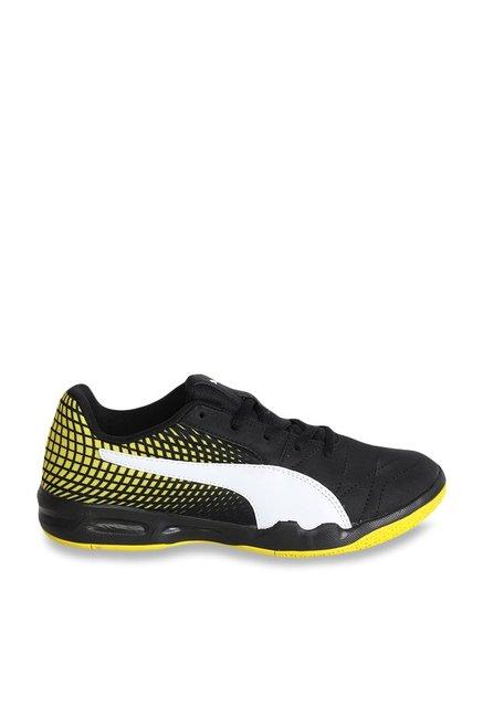 ce21e2d3698b Buy Puma Veloz Indoor NG Jr Black   Yellow Badminton Shoes for Boys at Best  Price   Tata CLiQ