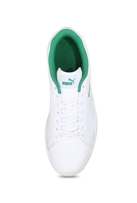 98bb64b2558 Buy Puma Smash V2 L Perf White   Green Sneakers for Men at Best ...