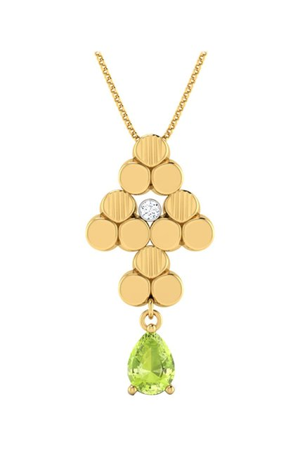 6bdcbc1df Buy CaratLane Crystalline 18k Gold & 0.01 ct Diamond Pendant ...