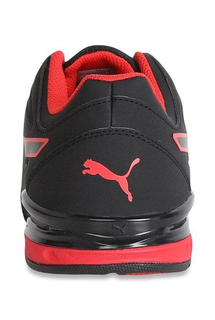 0075997d9f8 Buy Puma Tazon Modern SL FM Black   Flame Scarlet Running Shoes for ...