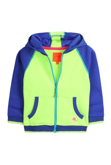 b4a2146332073 Buy Cherry Crumble California Lime   Blue Solid Hoodie for Infant ...
