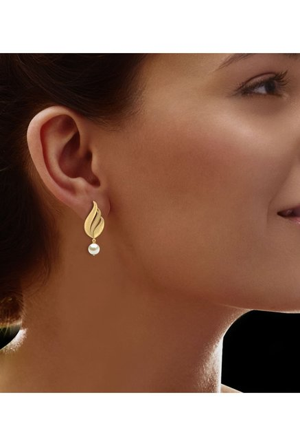 a85d4c57b7f Buy CaratLane Bevan Hammered 18k Gold Earrings Online At Best Price ...