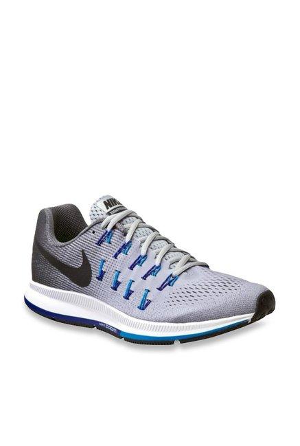 official photos ba9da a26bf Buy Nike Air Zoom Pegasus 33 Light Grey Running Shoes for ...