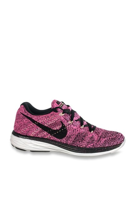 9f35657a4bad0 Buy Nike Flyknit Lunar 3 Pink Running Shoes for Women at Best Price   Tata  CLiQ