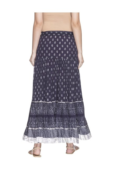 4ea960479 Buy Globus Navy Printed Maxi Skirt for Women Online @ Tata CLiQ