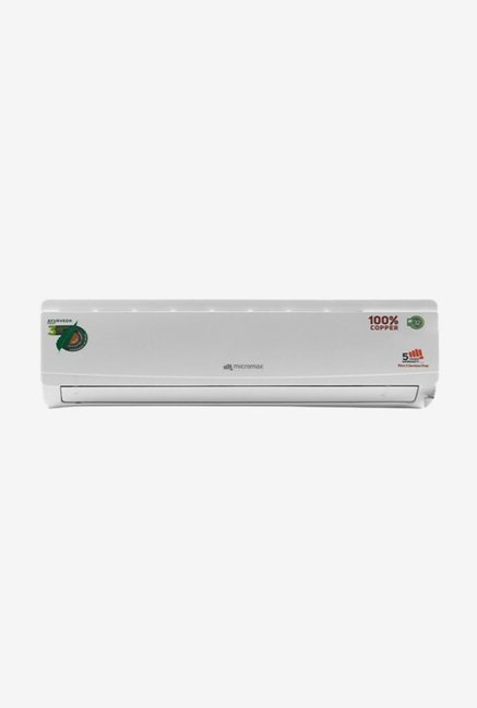 Micromax 1.0 Ton 3 Star Copper  BEE Rating 2018  Ayurveda ACS12C3A3QS2WH Split AC  White