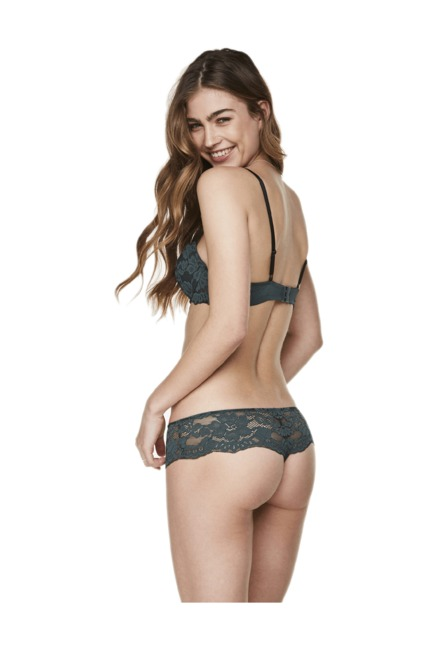 Hunkemoller Green Under Wired Padded Vita Balconette Bra