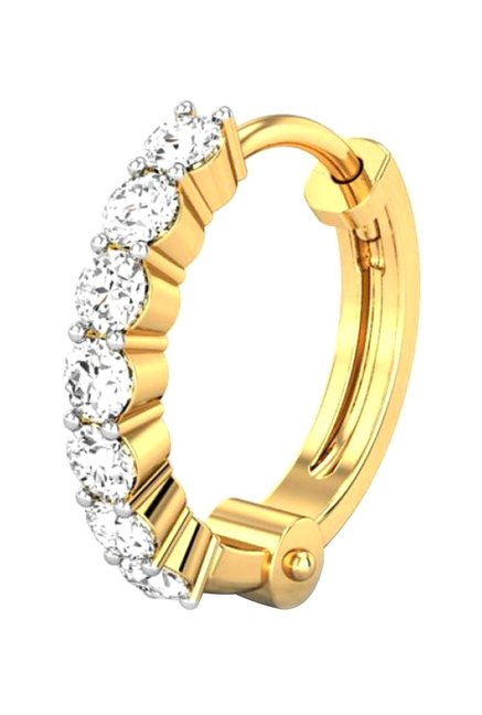 c0940b1dc Buy Candere By Kalyan Jewellers 18k Gold & 0.07 ct Diamond Nose Ring Online  At Best Price @Tata CLiQ