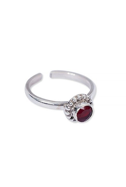 f32347ac98589 Buy Rubans Maroon Silver Delicate Vintage Ring for Women At Best ...