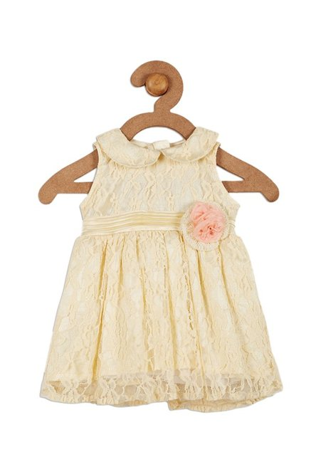5ba26093972c Buy 612 League Yellow Lace Dress for Infant Girls Clothing Online ...