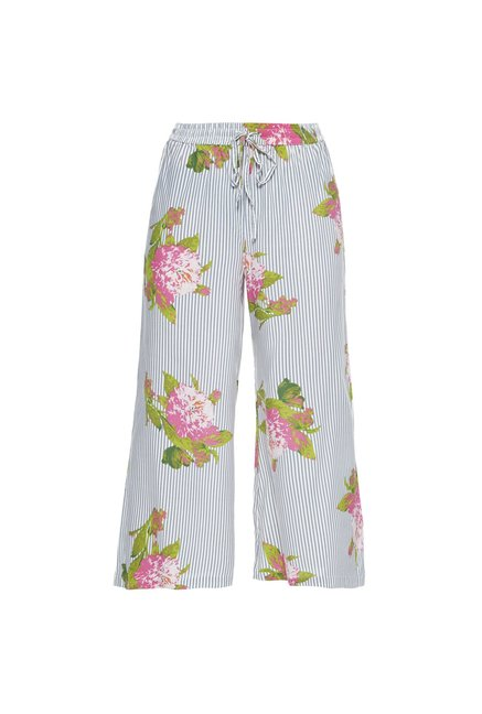Bombay Paisley by Westside Off White Striped Palazzos