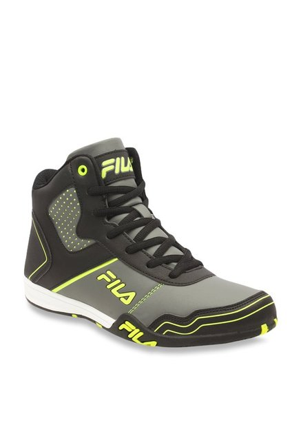 7a8dd2541bc3 Buy Fila Velocity Black   Grey Ankle High Sneakers for Men at Best ...