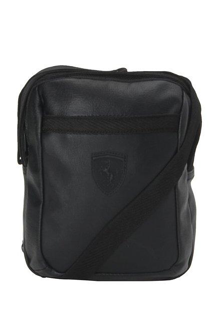 9425dd88ae Buy Puma SF LS Black Solid PU Sling Bag Online At Best Price ...