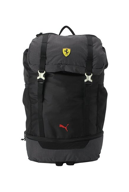 ca588495b84e Buy Puma SF Fanwear Black Chequered Polyester Laptop Backpack Online At  Best Price   Tata CLiQ
