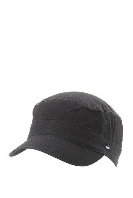Buy Puma Military Black Textured Cotton Military Cap Online At Best ... f0280ddacf8