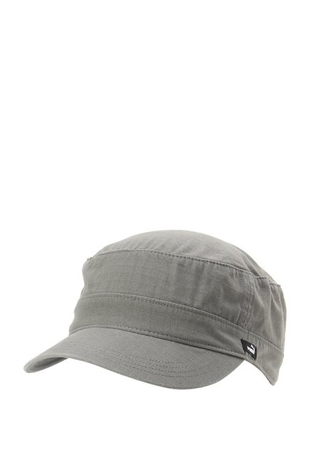 Buy Puma Military Grey Textured Cotton Military Cap Online At Best Price    Tata CLiQ c2a940e9a16e