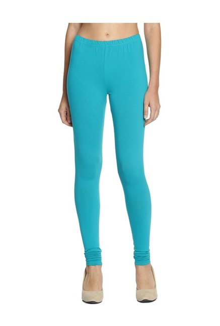 Soch Turquoise Cotton Lycra Churidar