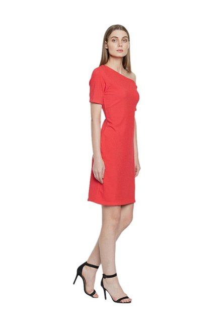 AND Red Above Knee Dress