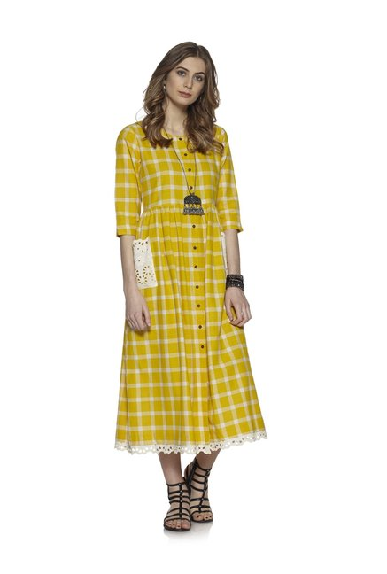 Bombay Paisley by Westside Yellow Dress