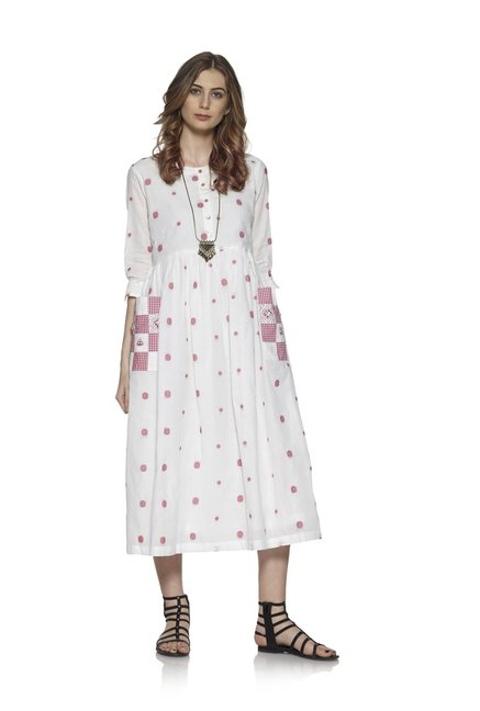 Bombay Paisley by Westside Red Pure Cotton Dress